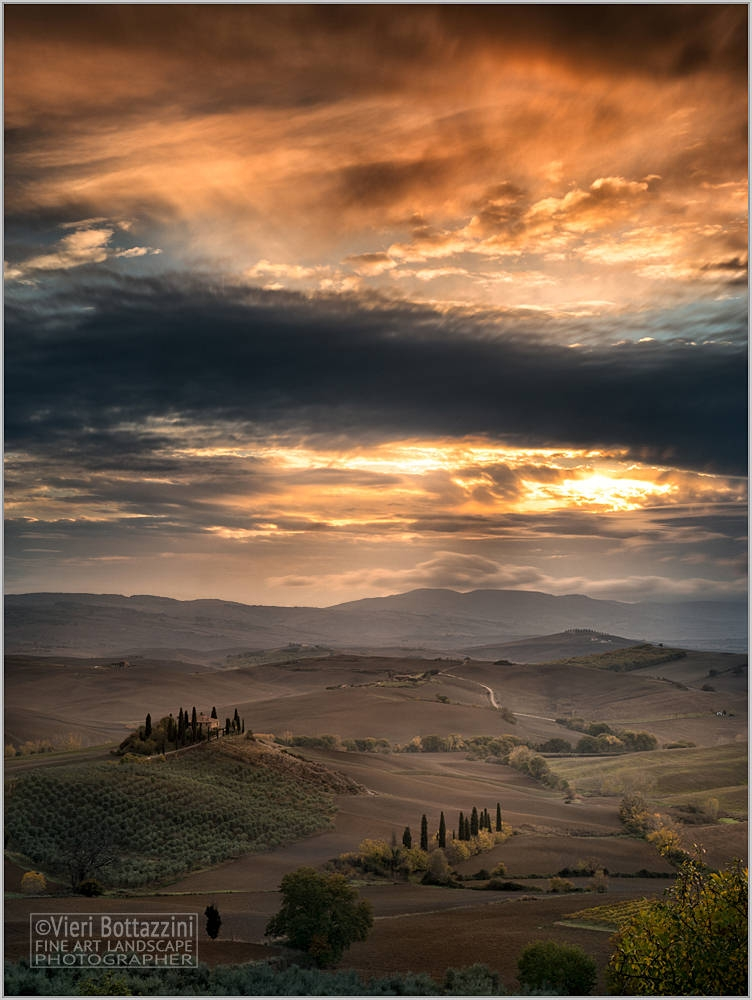 An incredible Tuscan sunrise