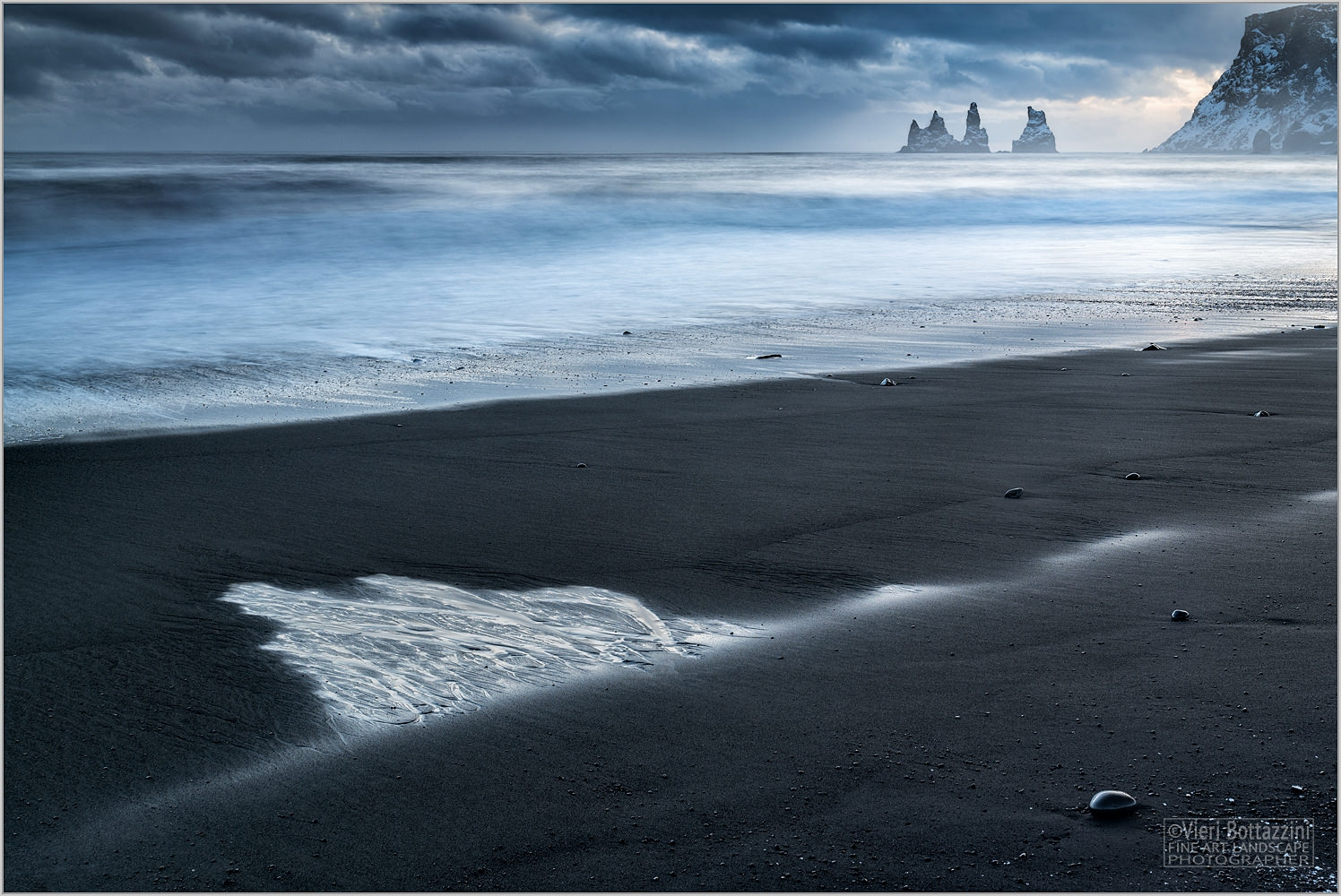 A bleak and beautiful Reynisdrangar sunset. Iceland
