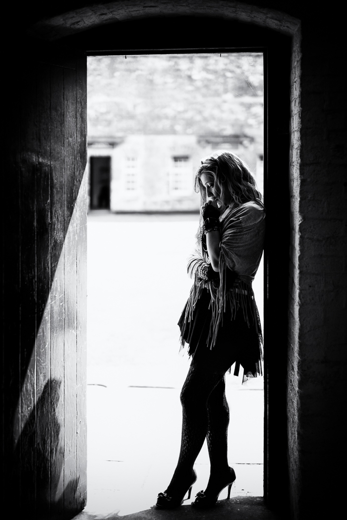 Sarah-Louise at the Redoubt