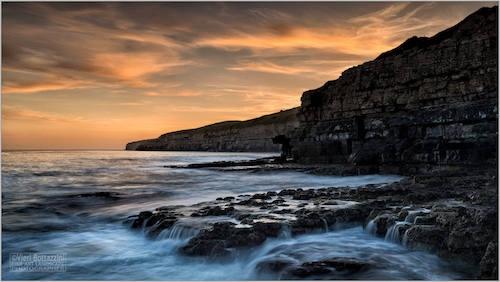 Seacombe Bay sunset, Dorset