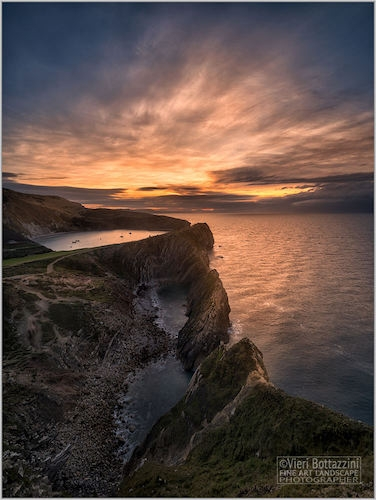 Sunrise above Stair Hole