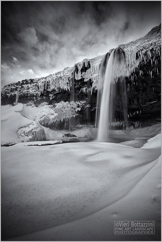 A different Seljalandsfoss in winter